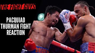 Manny Pacquiao Defeats Keith Thurman Reaction