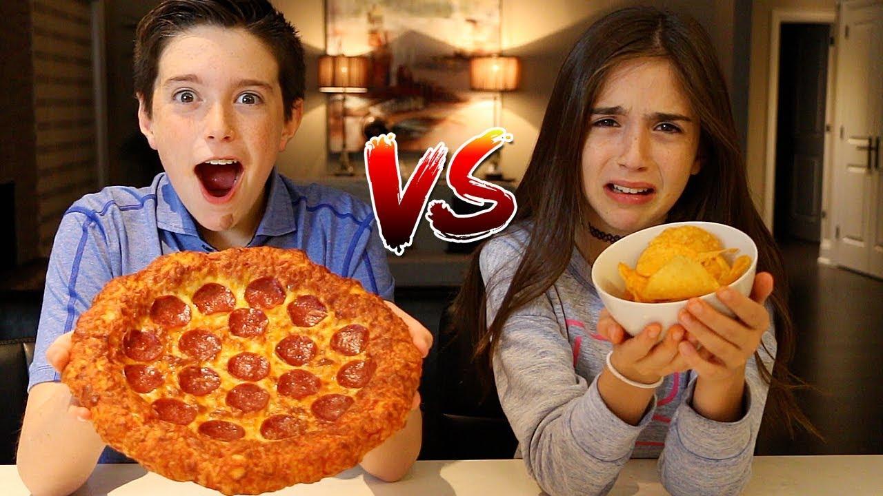 POTATO CHIPS vs REAL FOOD CHALLENGE!! - YouTube