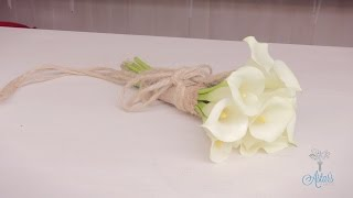 Flowers & Floristry Tutorial: How to Make an Calla Lily Wedding Bouquet(Go to http://www.astarsplace.co.nz for more. Follow me on Facebook at http://www.facebook.com/astarsplace., 2015-01-21T15:00:02.000Z)