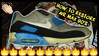 THE ULTIMATE AIR MAX 90 RESTORATION TUTORIAL | xChaseMaccini