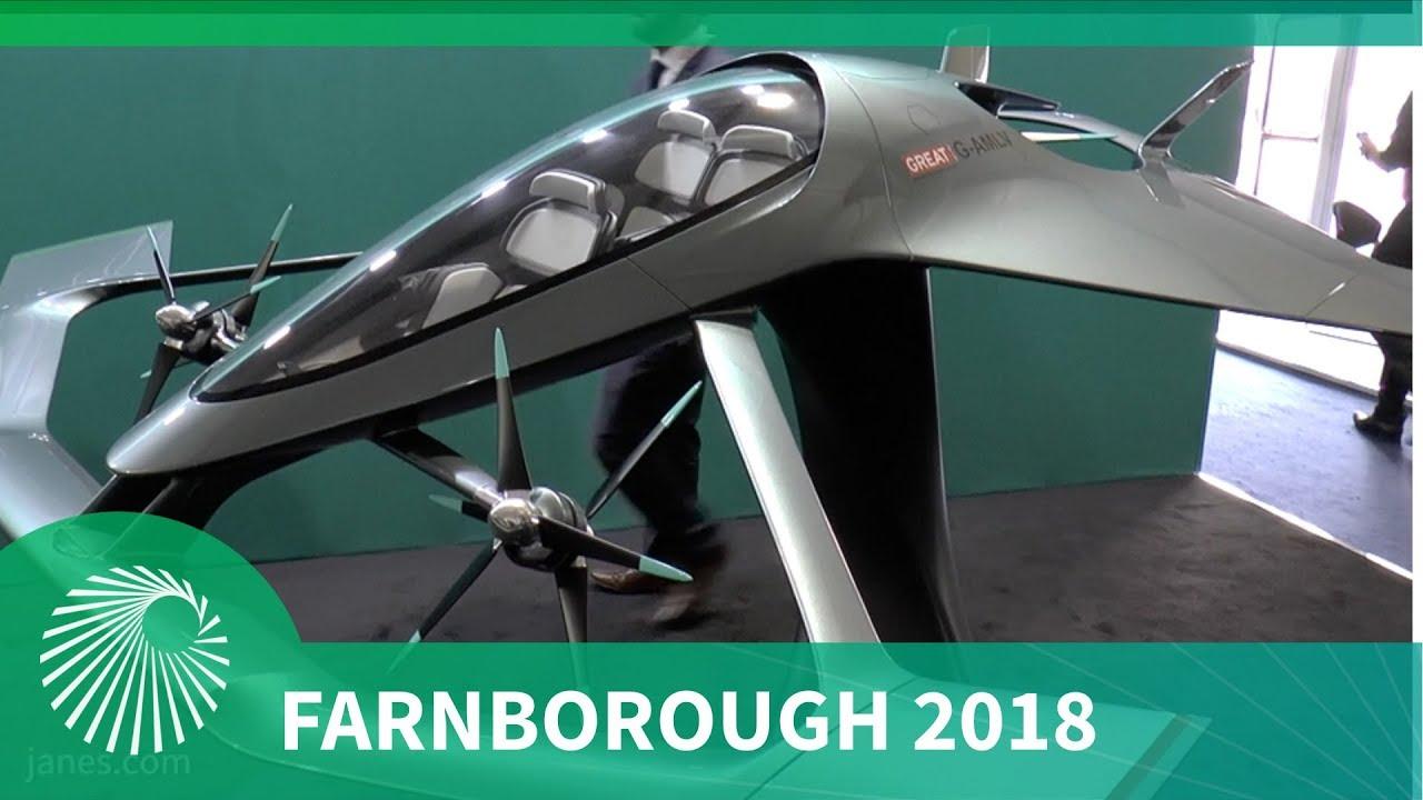 4c7faaaebddc Farnborough 2018  Aston Martin Volante Vision urban air taxi concept vehicle