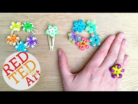 Loom Bands Flower Ring Bracelets Diy Fingers Only Cool Craft