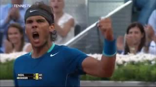 Six Stunning Rafa Nadal v Kei Nishikori Clay Rallies!