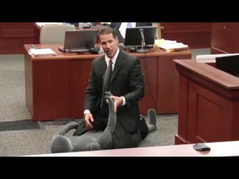 Zimmerman prosecution uses visual aids in theory Trayvon Martin was backing off when shot
