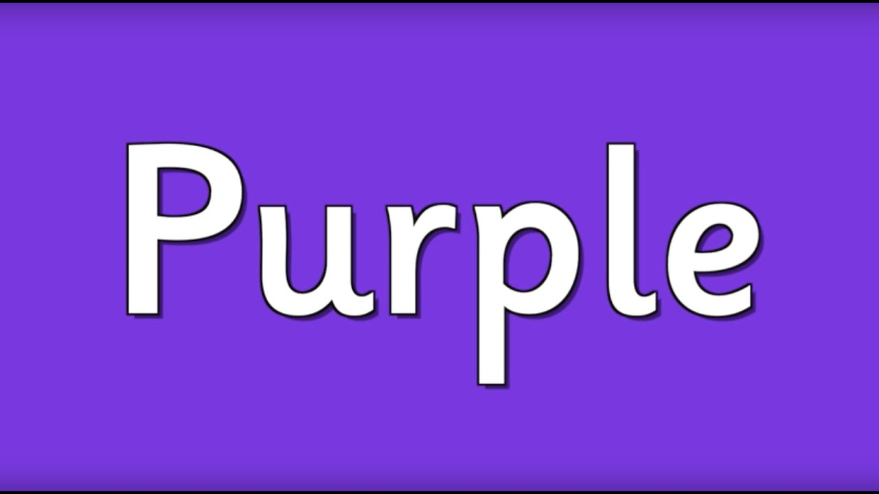 Purple Is The Color Of The Day Childrens Song Counting Learn