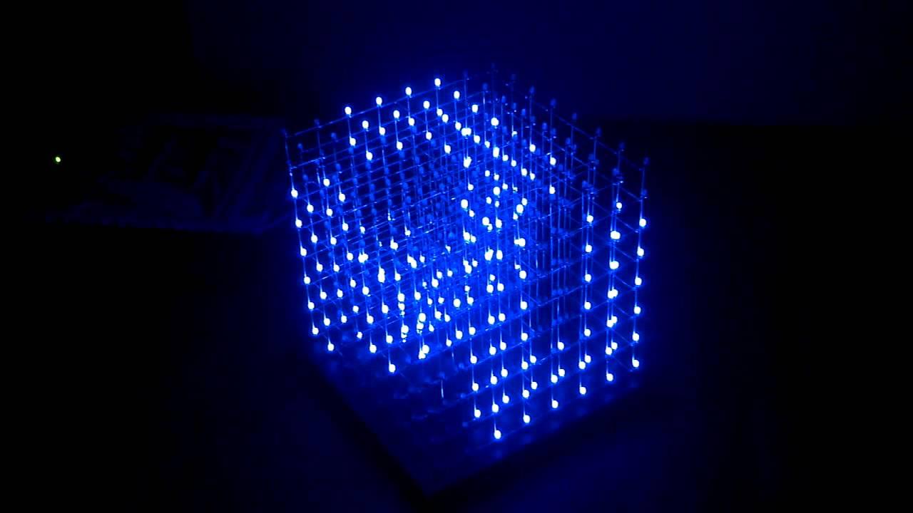 8x8x8 LED Cube Demo 48 Animations