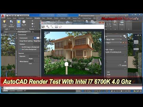 AutoCAD Render Test With i7 6700K 16 GB GTX 1060 6GB