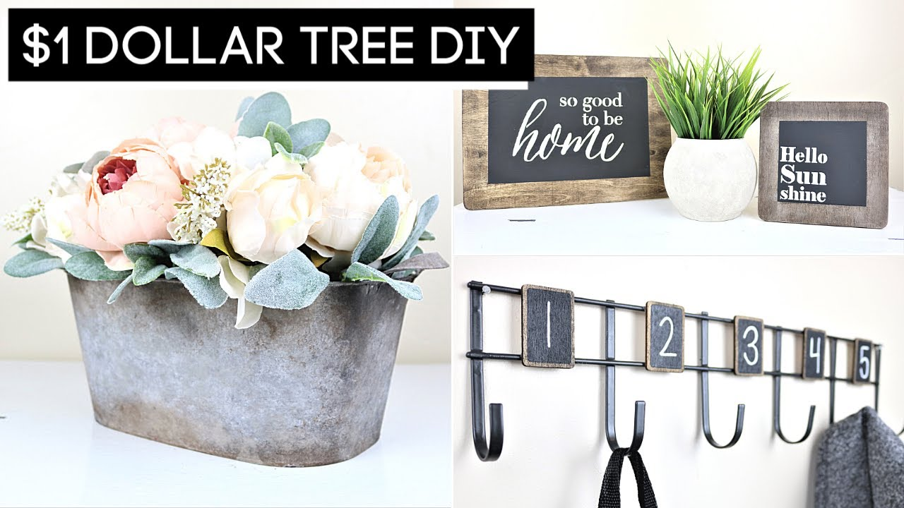 DIY Home Decor | EASY Dollar Tree DIYs 2020 | Collab with The Crafty DIY Guy