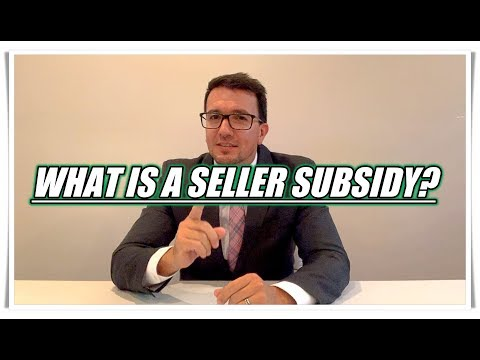 What is a Seller Subsidy or Seller Credit?