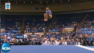 Gambar cover Kyla Ross crushes floor routine in 2019 NCAA gymnastics semifinal
