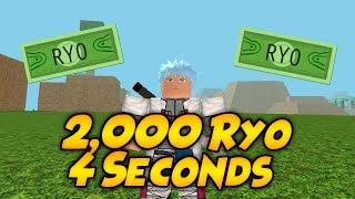 HOW TO GET 2,000 RYO IN 4 SECONDS IN NARUTO RPG:BEYOND | Roblox