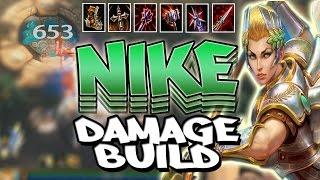 Smite: Nike Full Damage Build - I AUTO ATTACK FOR SO MUCH DAMAGE!