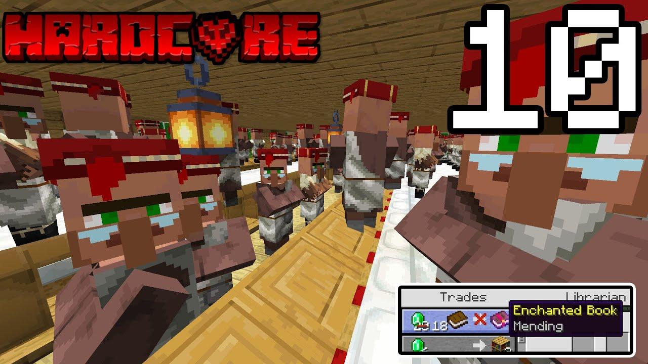 ทำฟาร์ม NPC นับ 100ตัวในเกมมายคราฟ!! โคตรเยอะ 55 - Minecraft HardCore 1.16 #10