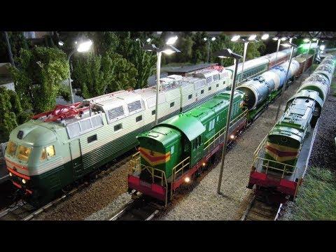 Крутая железная дорога, игрушечные поезда! Видео для детей.