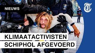 De sfeer wordt grimmiger bij de demonstraties op Schiphol door de aanpak van de Marechaussee