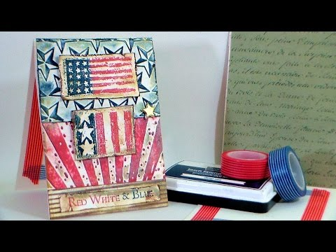 How To Dry-Emboss //STAMP SCHOOL// USA Card!