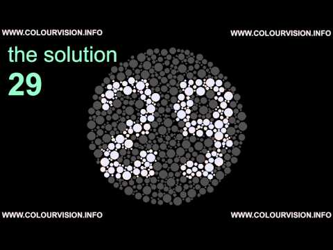 Color Blindness Test Www Colourvision Info Youtube