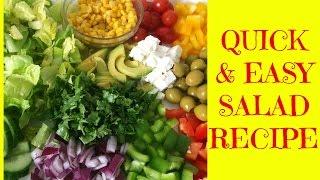 Quick Easy Healthy Salad Recipe (romaine Salad)