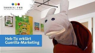 Hek Tic erklaert Guerilla Marketing von TORRES und FUSS