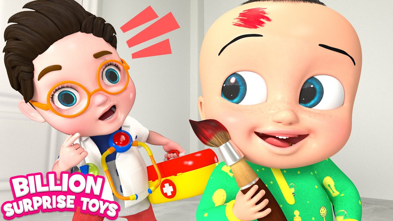 Boo Boo Health Care | Funny Kids Song | Billion Surprise Toys - Nursery Rhyme