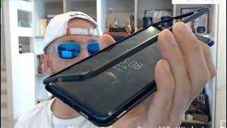 Test coque smartphone magnétique Aliexpress avec face en verre