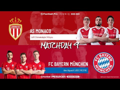 AS Monaco vs. FC Bayern München | Highlights Matchday 9 eFootball.Pro IQONIQ 2020-2021