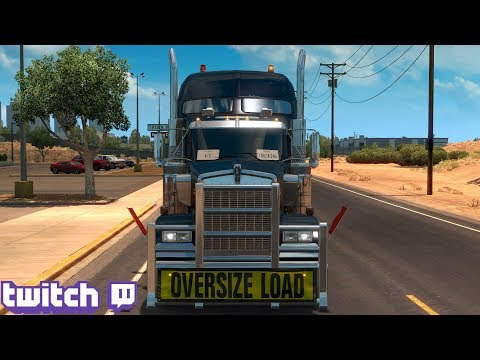 American Truck Simulator Day 26 | Heavy Cargo Elko To Arizona Part 2 | Twitch Live Stream