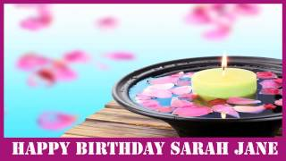 SarahJane   Birthday Spa - Happy Birthday