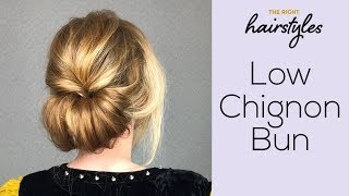 Low Chignon Bun - Easy Tutorial by TRHs