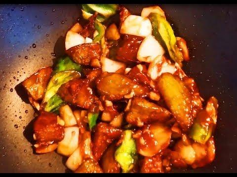 Китайская кухня.  Жареные баклажаны. Готовим по-китайски.