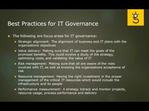 5.Best Practice for IT Governance
