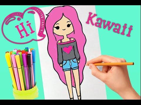 Как нарисовать каваи девочек
