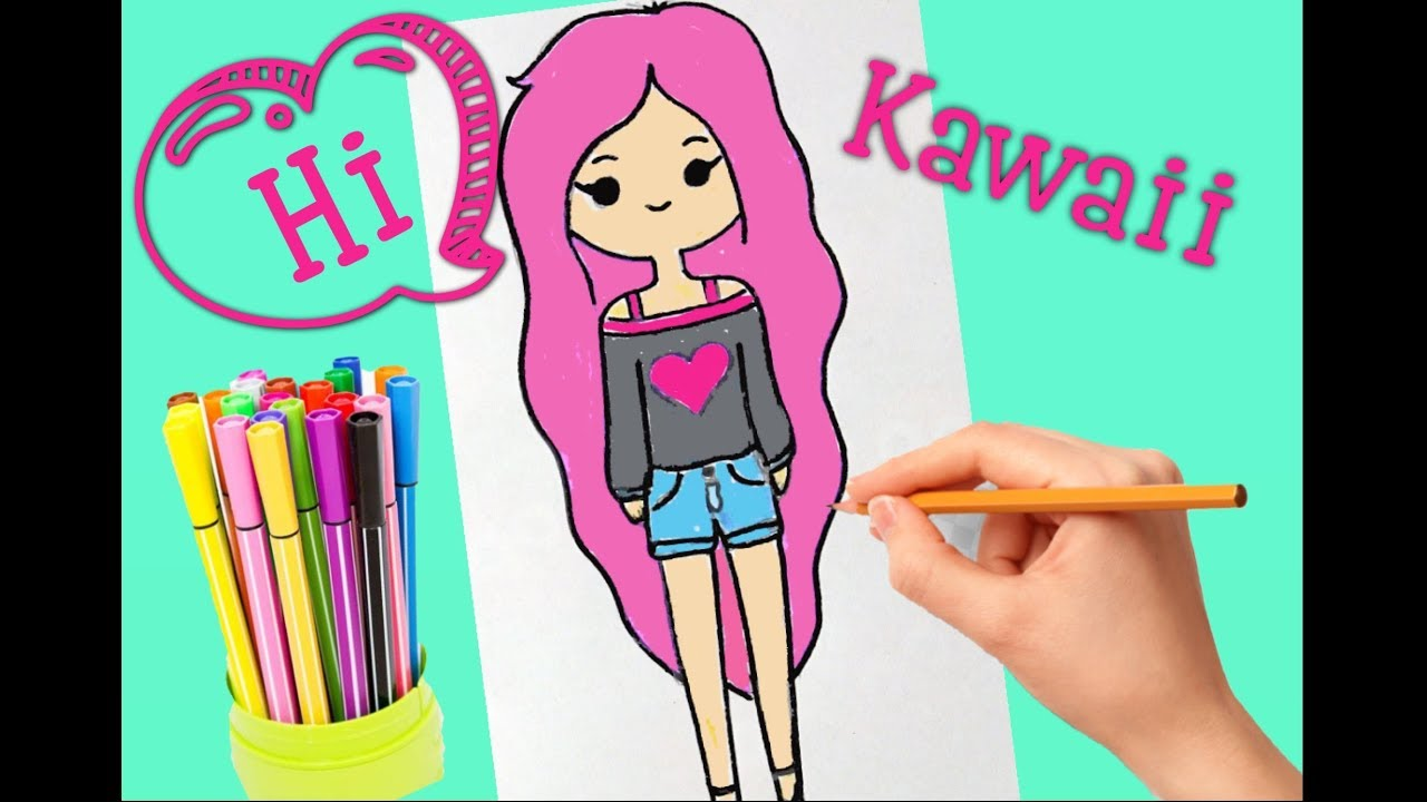How To Draw A Kawaii Cute Girl Tumblr Step By Step как рисовать девочку каваи