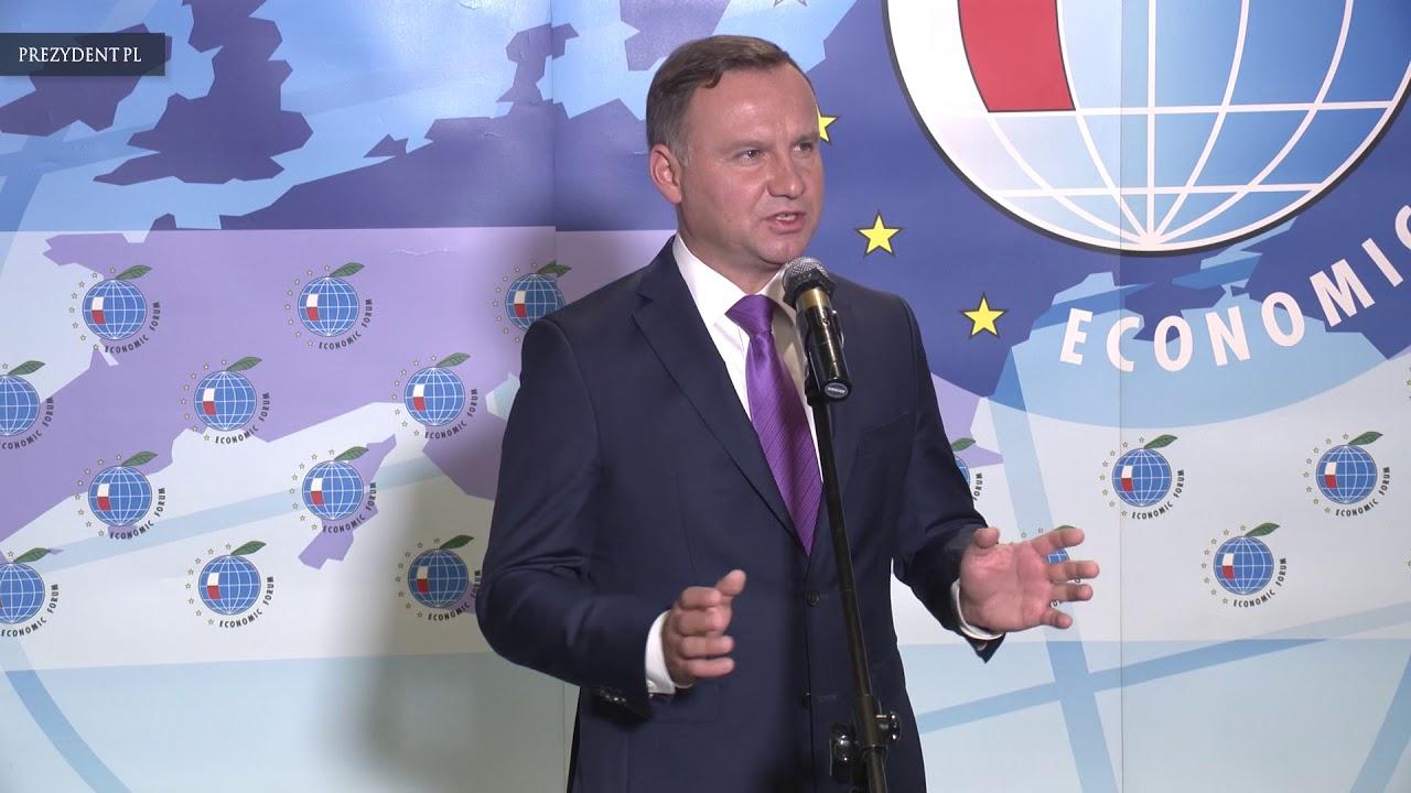 Spotkanie prezydenta Andrzeja Dudy z mediami