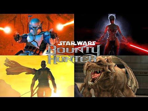 STAR WARS BOUNTY HUNTER - ALL BOSSES (2002)