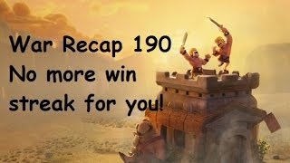 Clash of Clans War Recap 190 - Peanutz - We broke their 9 win streak!
