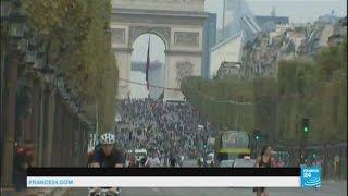 فيديو.. باريس تمنع مرور السيارات في شوارعها