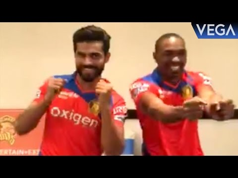Ravindra Jadeja With Dwayne Bravo Dance On Dj...