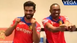 Ravindra Jadeja With Dwayne Bravo Dance On Dj Bravo Champion Song