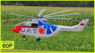 GIANT RC TURBINE EIGHT BLADE MIL MI-26 FIRST BIG FLIGHT DEMONSTRATION