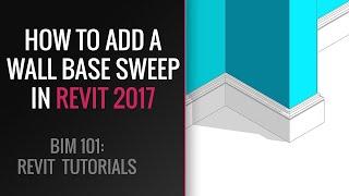 Revit Tutorial for beginner: Add Wall Base Sweep in Revit 2020