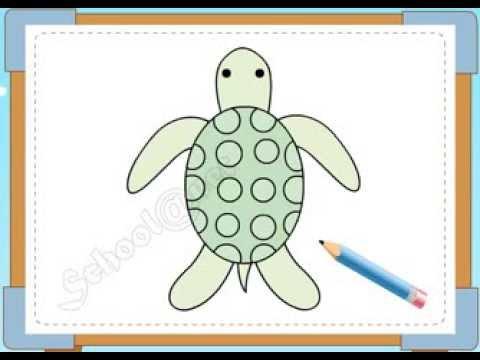 BÉ HỌA SĨ - Thực hành tập vẽ 179: Vẽ con rùa