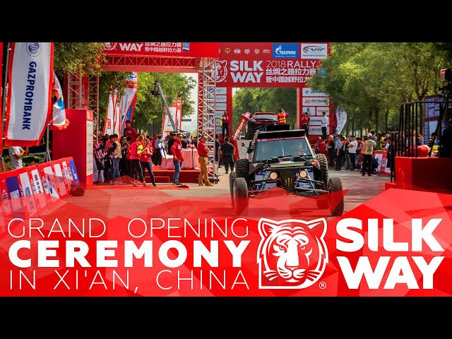 Grand opening ceremony in Xi'an, China | Silk Way Rally 2018 🌏 China