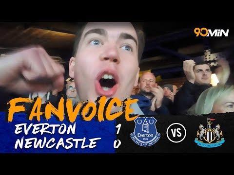Walcott scores the winner as Everton beat Newcastle!   Everton 1-0 Newcastle   90min FanVoice