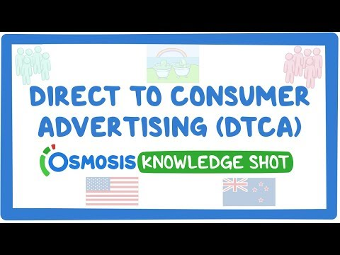 Direct to consumer advertising
