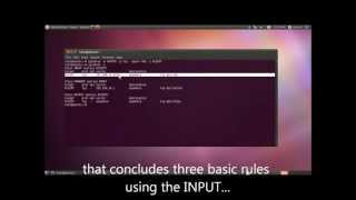 Basic iptables - INPUT FORWARD and OUPUT chains