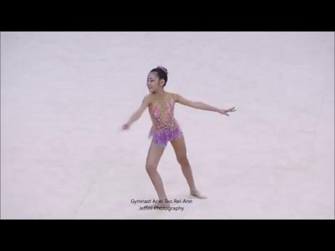 9th National Rhythmic Gymnastics  Championships 2017 Ariel Teo Rei Ann by Jeffini Photography