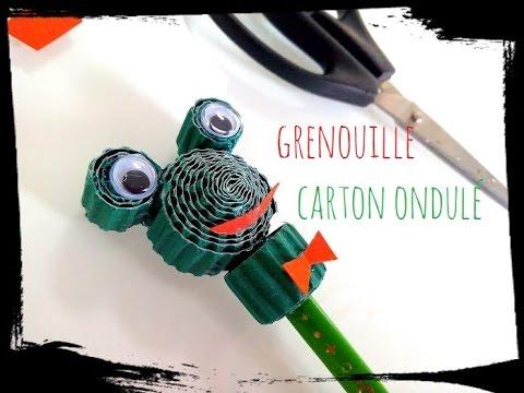 Bien-aimé diy grenouille carton ondulé crayon - YouTube HG14