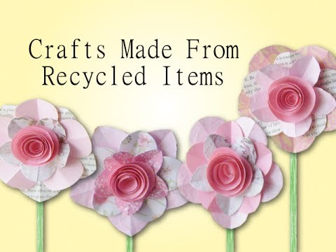 Crafts made from recycled materials youtube for Things to make with recycled materials