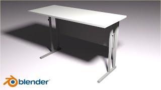 Blender 3D,моделирование,modeling,уроки для новичков,научиться моделировать,школьная парта